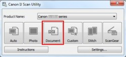 Canon IJ Scan Utility Software